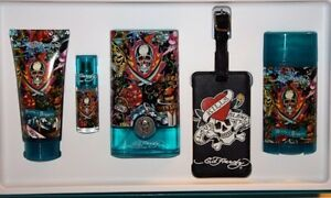 Ed Hardy MEN Hearts & Daggers 3.4 oz EDT COLOGNE+2.7 oz DEODORANT+BODY WASH+MORE