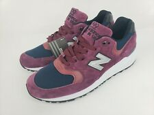 New Balance M999JTA Suede Maroon Navy Made In USA  Men's Shoes Size 9