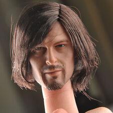 """Figure Club 1/6th Daryl Dixon Head Sculpt Model For 12"""" Male Figure Body U.S.A."""