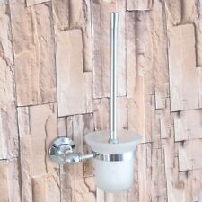 Bathroom Accessories Wall Mount Polished Chrome Toilet Brushes Holders Zba793