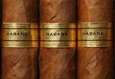 Art Poster Habana Cigars  Havana Cigar  Print