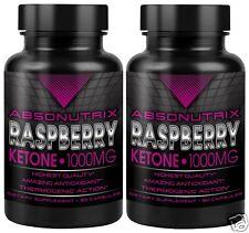 2 Bottle Absonutrix Raspberry Ketone 1000mg 100% Pure Ketones Super High Quality