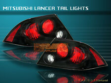 02-03 MITSUBISHI LANCER 4-DOOR EURO TAIL LIGHTS JDM BLACK 02
