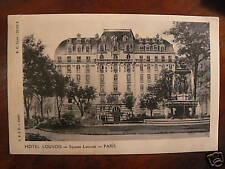 cpa 75 paris hotel louvois square louvois