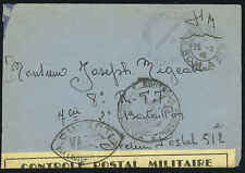 FRANCE 1916 MILITARY CENSORED ARMY COVER TO MILITARY PO