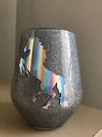 Glitter Make Up Brush Holder - SILVER - Holographic Unicorn