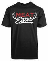 Meat Eater Reindeer Antlers New Mens Shirt History Concept Stylish Humor Top Tee