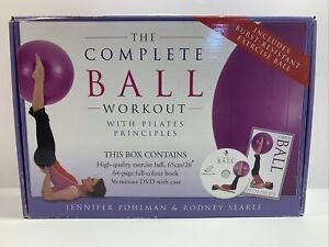 Pilates Ball Workout Fitness Exercise Training Therapeutic JPohlman RSearle NEW