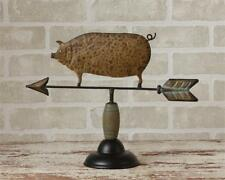 New Primitive Rustic Antique Style PIG WEATHER VANE Figurine Shelf Sitter