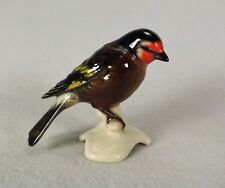 Goebel Porcelain Bird Figure Figurine Hand Painted Colorful Red Faced Goldfinch