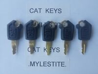 (5) CAT Keys Heavy Equipment Caterpillar Excavator, CAT Dozer, CAT Roller Key..