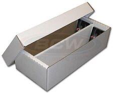 One BCW Cardboard 2-Row Baseball Trading Card Shoe Box 1600 count storage
