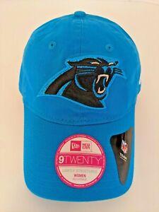 New NFL Carolina Panthers New Era 9Twenty Team Glisten Women's Adjustable Hat