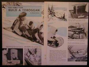 6' Wooden Toboggan How-To Build PLANS Bent Ash *Beauty*