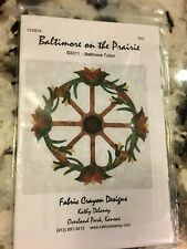 New listing Baltimore on the Prairie Tulips Wagon Wheel Quilt Fabric Crayons Kathy Delaney