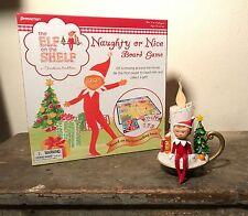 "Elf on the Shelf 6.5"" LED Candle Chippey the Elf Christmas Lot Game Pressman Vtg"