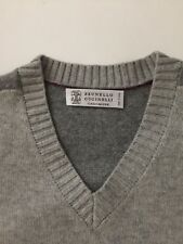 Authentic Brunello Cucinelli 100% Cashmere Men's Sweater, Made In Italy