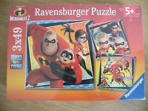 """RAVENSBURGER"" Disney Pixar ""INCREDIBLES 2""  - Three Puzzles - AGE 5+ - BNWT"