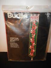 Bucilla 3596 Jeweled Panel MERRY CHRISTMAS Unopened Kit Vintage Holiday Santa