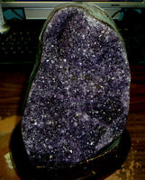 LARGE  AMETHYST CRYSTAL CLUSTER  CATHEDRAL GEODE FROM URUGUAY POLISHED