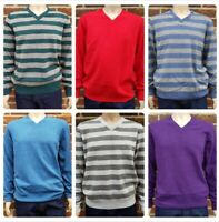 Men`s Lambswool V-Neck Jumper Sizes S-M-L-XL-2XL Sweater Knit Top