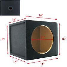 "1x Audiotek Car Audio Single 12"" Sealed Subwoofer Sub Box Enclosure 1"" Mdf Wood"