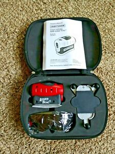 320.48251 CRAFTSMAN 4-IN-1 LEVEL WITH LASER TRAC SEARS RED CARRYING CASE