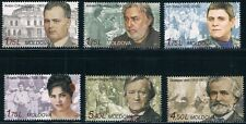 Moldova 2013 Famous Persons 6 MNH stamps (2 issues)
