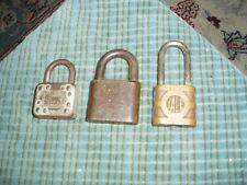 Vintage HURD, YALE, MASTER, Padlock Lot Of 3 W/ NO Keys