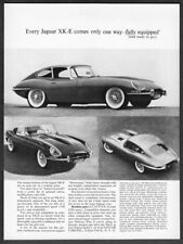 "1963 Jaguar XKE Coupe & Convertible 3 photo ""Ready to Go"" vintage promo print ad"