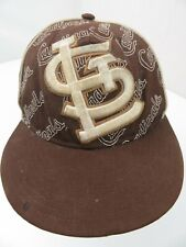 St Louis Cardinals New Era Brown Fitted 7 1/8 Adult Baseball Ball Cap Hat