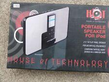 House Of Technology Portable Ipod 3.5mm Aux Jack 2 X 1w Flat Speaker