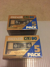 2X Brick of 5 New Sealed Maxell XLII 90 Extra Fine Epitaxial Tapes Made In Japan