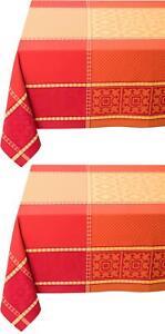 Jacquard Tischdecke Baumwolle Beschichtet Gartentischdecke Provence Decken Rot
