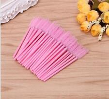 1000X Disposable Eyelash Brushes Mini Mascara Applicator Wands Makeup Brush Pink
