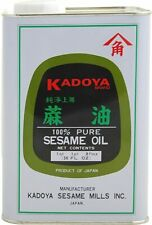 US FREE SHIPPING Kadoya 100% Pure Sesame Oil 56 Ounce Family Value Tin Pack
