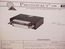 1975 CRAIG 8-TRACK STEREO TAPE PLAYER/AM-FM/MPLX RADIO SERVICE MANUAL MODEL 3128