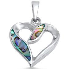 Abalone Heart  .925 Sterling Silver Pendant