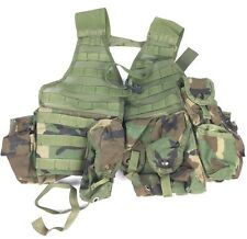 Army MOLLE II Woodland Fighting Load Carrier Rifleman Vest w/ Pouches Military