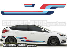 Ford Martini side racing stripes 005 vinyl graphics stickers Focus Fiesta Ka