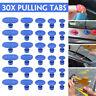 30Pcs Glue Pulling Tabs Paintless Car Body Hail Repair Removal Dent Puller Tools