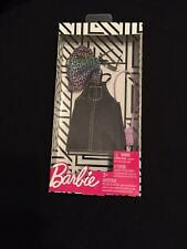New Barbie Doll Fashion Pack Black Denim Overall Skirt, Top, Glasses, & Purse