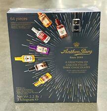 Anthon Berg Dark Chocolate Liqueurs Original Spirits 64 Pcs 1kg 2.2lb BBE NOV 20