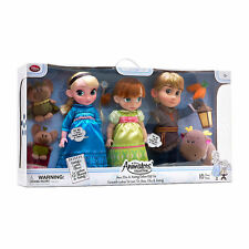 Disney Frozen Anna Elsa Kristoff Deluxe Animator's Collection Doll Gift Set