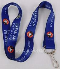 Disney Parks 2015 Epcot Food Wine Festival Premium Package Mickey Lanyard New F