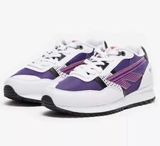 Hi-Tec Trainers BW 146 PU SS19 White Purple Red UK Size 5 Brand New In Box