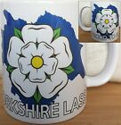 YORKSHIRE MUG, Proud To Be A Yorkshire Lass, Yorkshire Rose and County on Mug