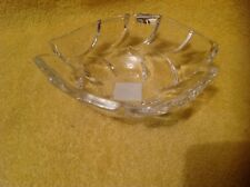 """WATERFORD Marquis CRYSTAL Palma Sculpted 7"""" Oval Bowl NWT's/Unused"""