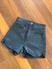 LEE Denim Leather Look Cotton High Waisted shorts - Aus Size 6 Women's Festival