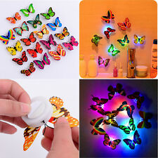 Hot Charm Butterfly LED Lamp Colorful Changing Night Light Home Room Wall Decor